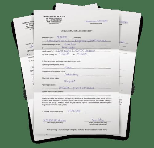 Umowa o prace - inEwi