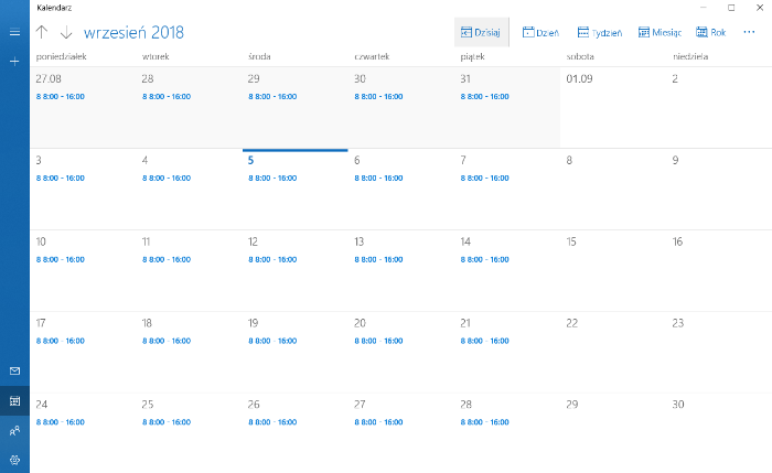 Grafiki pracy inEwi - synchronizacja z Apple iCal, Outlook, Google