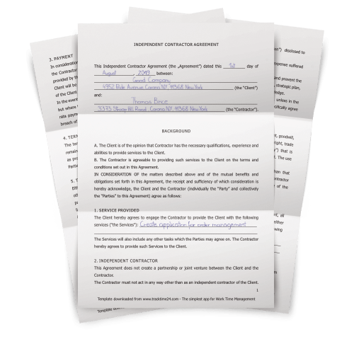 Independent Contractor Agreement - TrackTime24