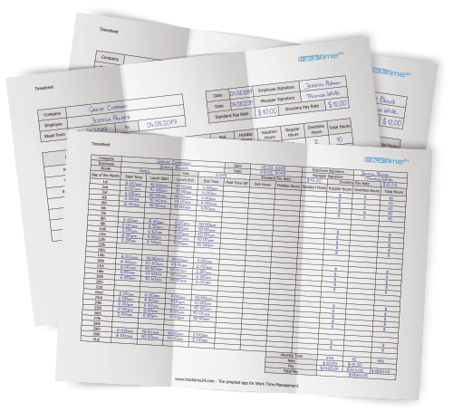 timesheet template  excel  u0026 pdf   download