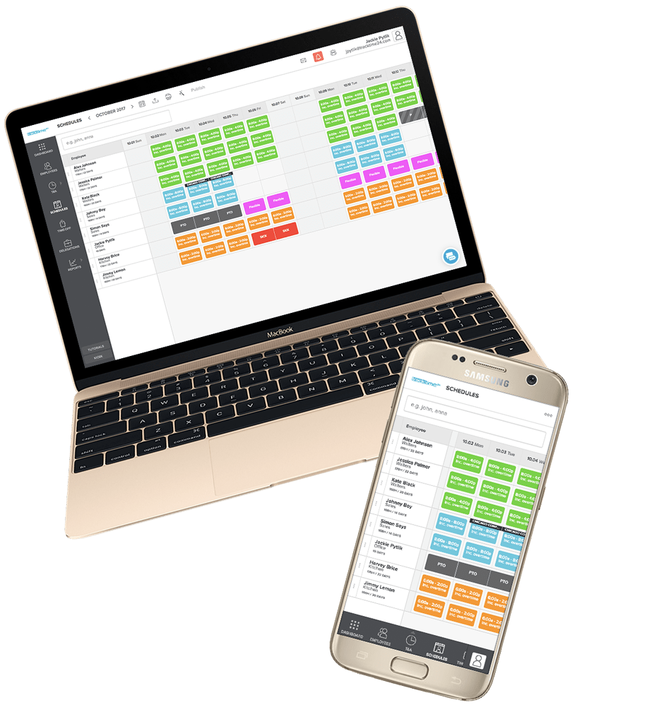 employee work schedule maker online tracktime24