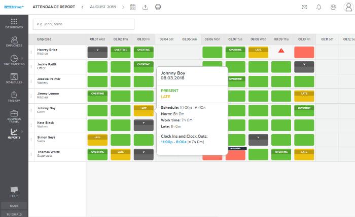 Work Time Tracker & Employee Timesheet Online App - TrackTime24
